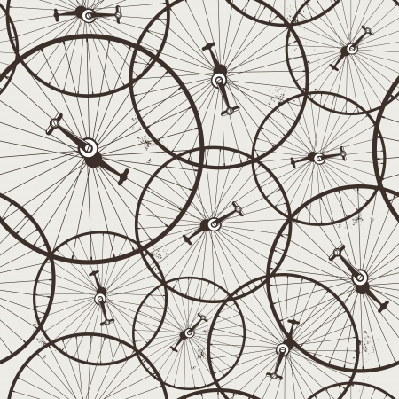 old bicycle wheel seamless, wallpaper, eps8, no transparencies, ideal for prints
