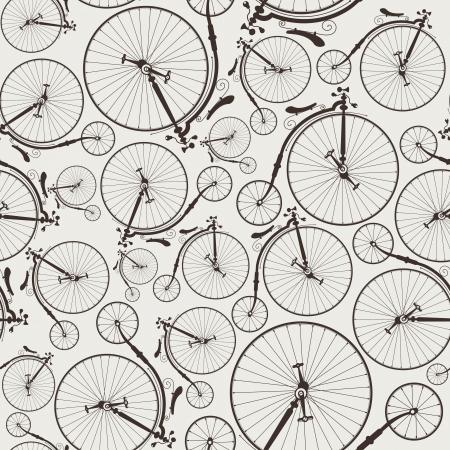 vintage bicycle seamless wallpaper Stock Illustratie
