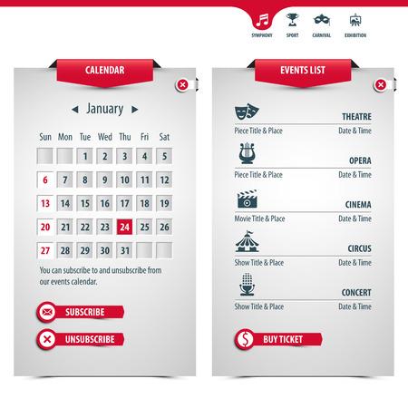 カレンダーと最も人気のあるイベントのアイコン高現実的な効果の透明度が含まれています