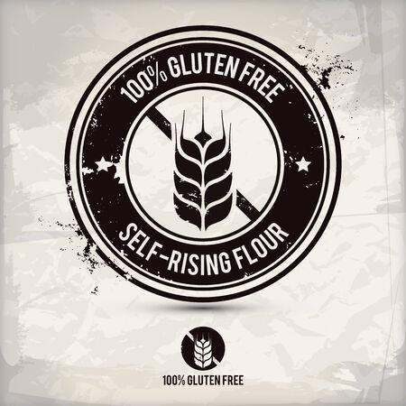 alternative gluten free stamp on textured background