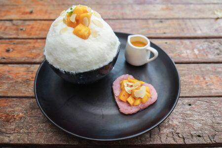Mango Bingsu Korea dessert.