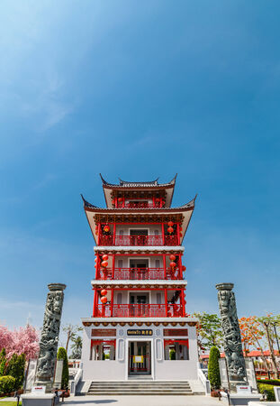 Chinese temple with the blue sky photo