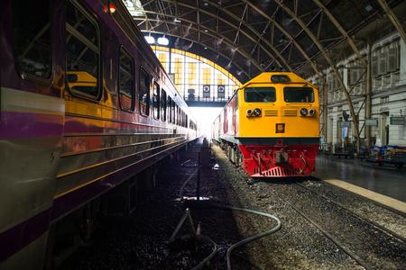 diesel train: Diesel Train in Thailand at Bangkok Station
