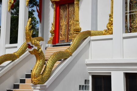 The Naga statue in Thai temples is a symbol of those who have strong faith in Buddhism.