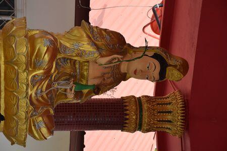 Statue of Guanyin holding a branch of Liu 写真素材