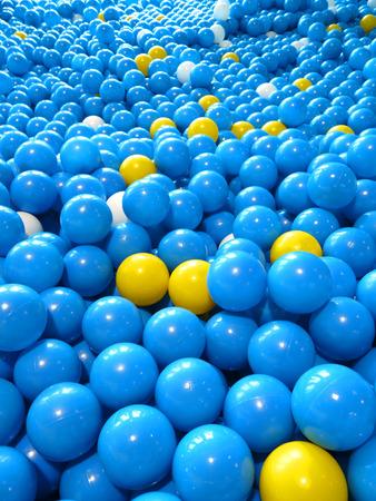 Colorful plastic balls that children love. photo