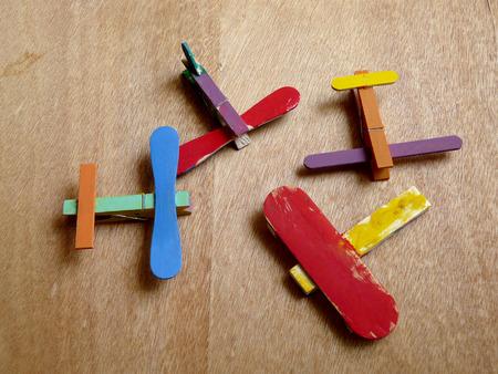 gelato stecco: Colorful aereo bastone gelato fai da te.