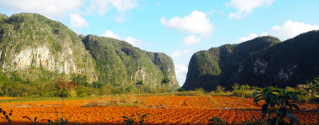 Mogotes (Hills) in Vinales Valley, Cuba, February 2019, 스톡 콘텐츠