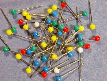 Photo image of a selection of multi colored straight pins Stock Photo - 5385144