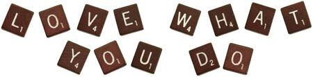Foto aislado de juego azulejos enunciar las palabras,  Foto de archivo - 5504237