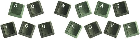 Isolated keyboard keys spelling out the words Imagens
