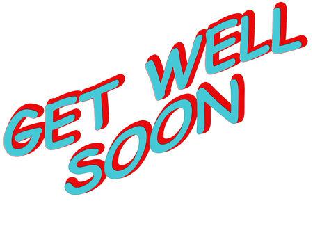 soon: Illustratie waarin de woorden Get Well Soon