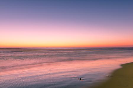 Fantastic ocean over beach in San Diego. Overcast