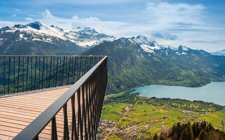 unrivalled: Vantage platform affords unrivalled views of Eiger, Monch end Jungfrau. Swiss Alps