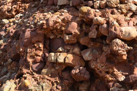 Stony texture rocks and stones. Abstract and chaotic appearance. Brown and white effects. 版權商用圖片