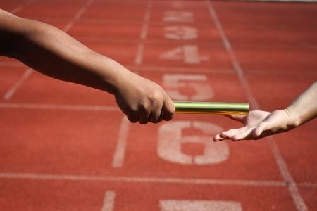 relay race Stock Photo