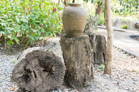 timber garden decorate in wachirabenchatat park