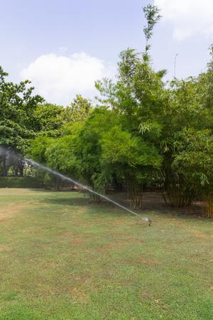 Gardening Sprinkler on clear sky