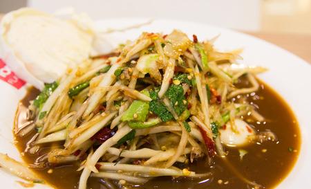 thai papaya salad som tum