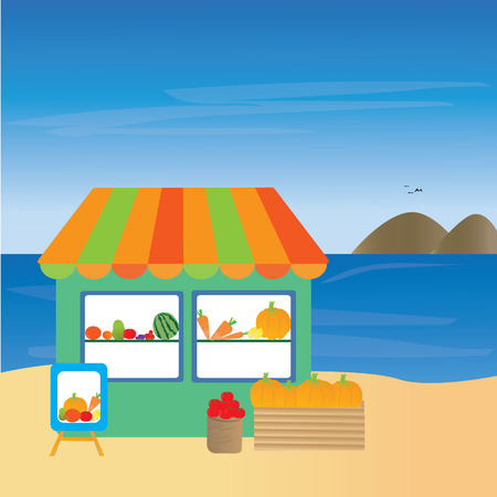 fruits shop Illustration