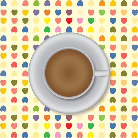 Coffee cup background Illustration