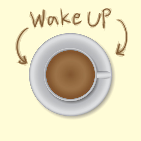 wake up coffee Illustration