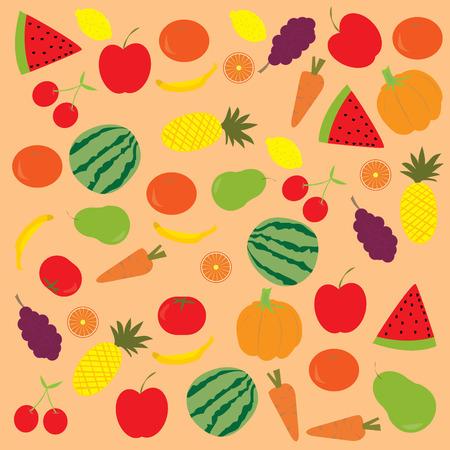 Fruits background Illustration