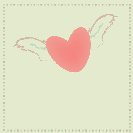 Fly heart on blank background