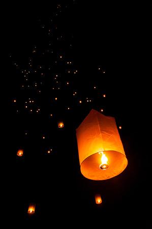 paper lantern: sky lantern