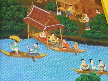 creative: Thai mural painting Stock Photo