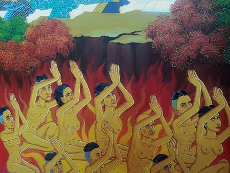 creative: Thai mural painting Stock Photo