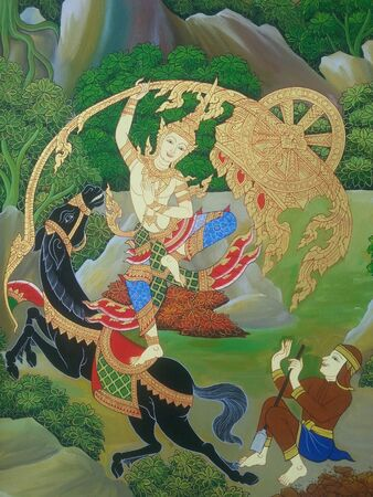 creative: Thai art in temple