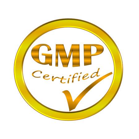 GMP certified symbol image concept design on white background photo