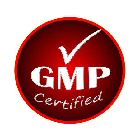 GMP certified logo or symbol image concept design on white background photo