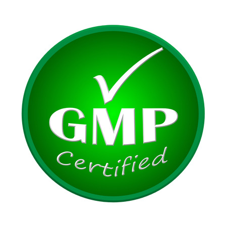 GMP certified logo or symbol image concept design on white background Stock Photo