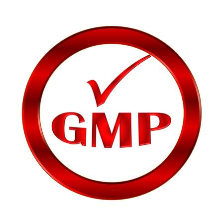 GMP icon or symbol image concept design on white background photo