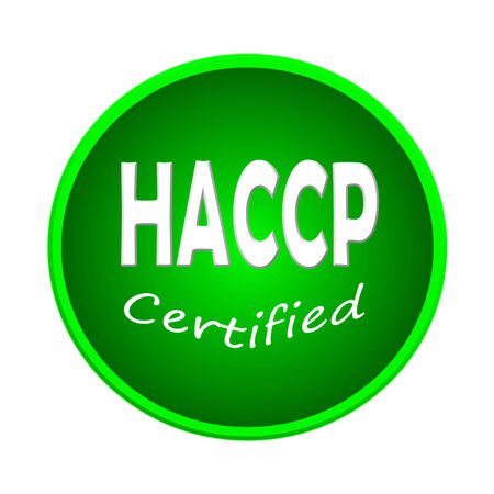 HACCP or symbol image concept design on white background photo