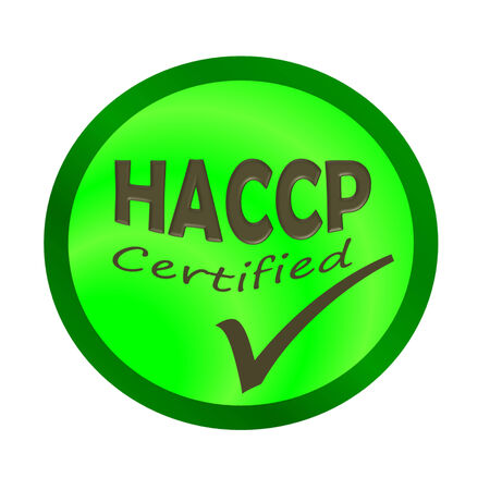 HaCCP certified logo or symbol image concept design on white background Stock Photo