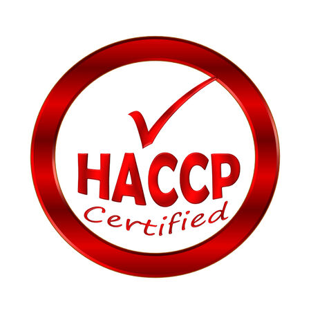 HACCP certified logo or symbol image concept design on white background photo