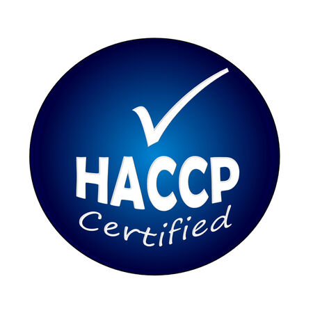 HACCP certified symbol image concept design on white background photo