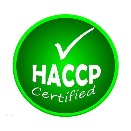 HACCP certified icon or symbol image concept design on white background Banco de Imagens