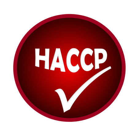 HACCP logo or symbol image concept design on white background Banco de Imagens