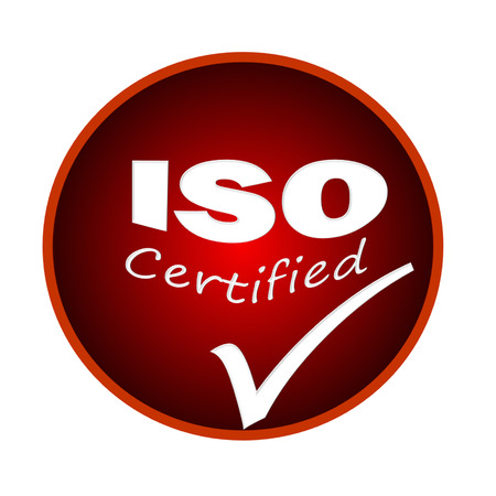 ISO certified icon or symbol image concept design on white background