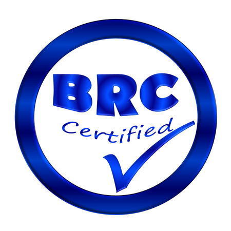 BRC certified icon or symbol image concept design on white background photo