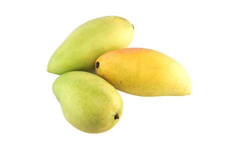 Mango fruit isolated on white background with clipping paths photo
