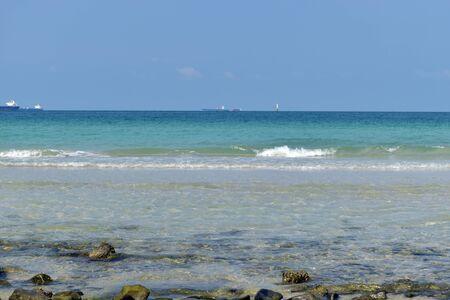 chonburi: Blue sea for background at Sichang Island, Chonburi Thailand.