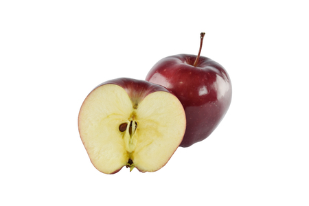 weight control: red apple concept for healthy diet and body weight control  Stock Photo