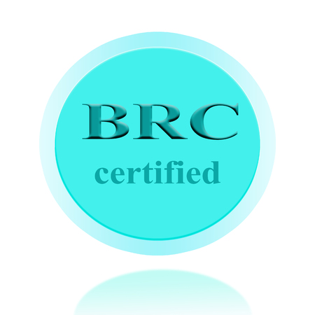 certify: BRC certified icon or symbol image concept design with business women for business concept. business concept