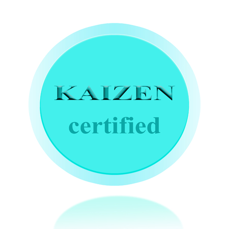 kaizen: KAIZEN certified icon or symbol image concept design with business women for business concept. business concept