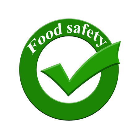 food safety: Food safety icon or symbol image concept design with business women for business concept. business concept